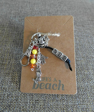 Sun Beach Themed Keychain