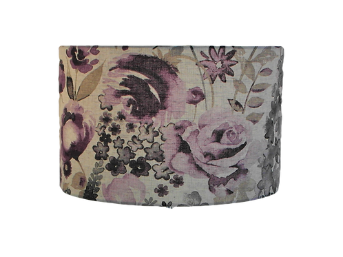 Misty Moors Lilac Purple Floral Design Handmade Lampshade, Drum or Empir