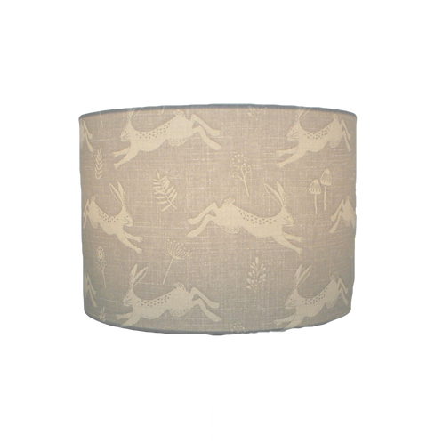 Jump! Hare Countryside Grey Handmade Lampshade