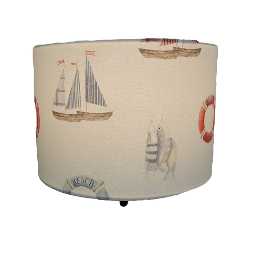 Beach House Handmade Lampshade, Drum or Empire Shapes