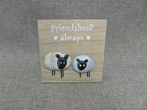 Friend sheep Always Standing Sheep 3d Plaque