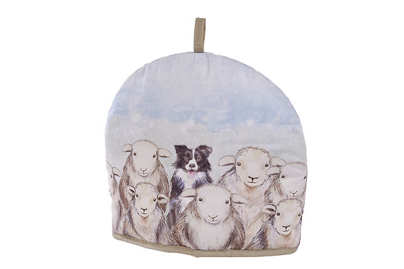 Sheep Dog and Sheep Tea Cosy