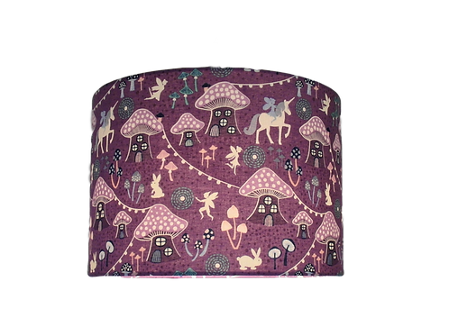 Fairy Nights, Mushroom Village, Childs, Glow in the Dark, Handmade Lampshade
