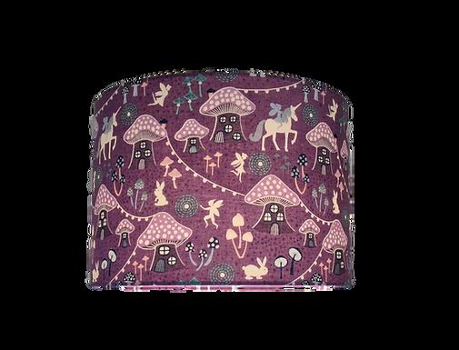 Fairy Nights, Mushroom Village, Childs, Glow in the Dark, Handmade Lampshade