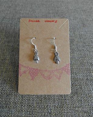 Mushroom Earrings With Silver Hooks