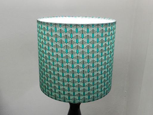 Clearance Green Art Deco fabric Handmade Lampshade