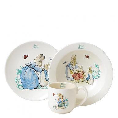 Beatrix Potter Peter Rabbit Ceramic Three Piece Nursery Set, A25864