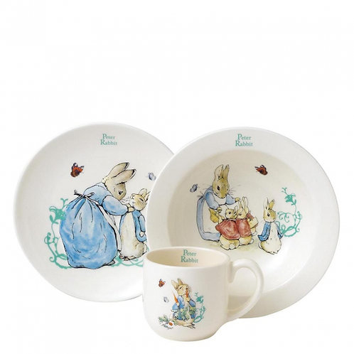 Beatrix Potter Peter Rabbit Ceramic Three Piece Nursery Set, A25864
