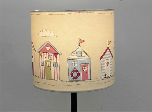 Beach Huts, Seaside Themed Handmade Lampshade