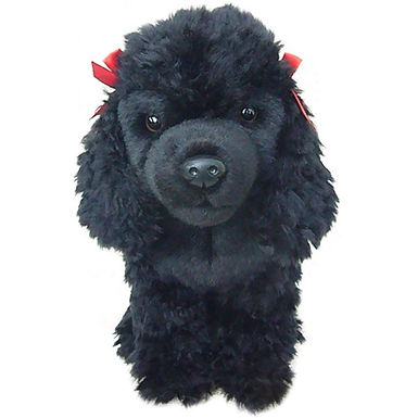 12'' Black Poodle Soft Toy