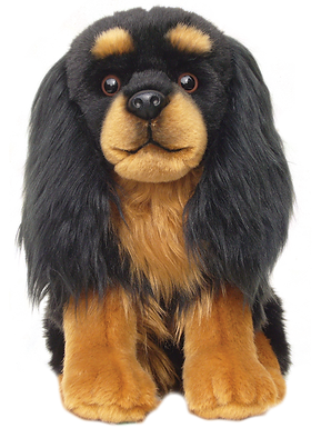 12'' Black and Tan Cavalier Soft Toy