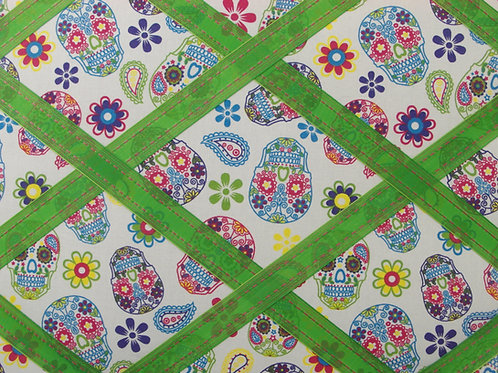 Sugar Skulls Fabric Memo Board