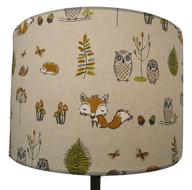 Woodland Fox shade Countryside Themed, Drum or Empire Spes