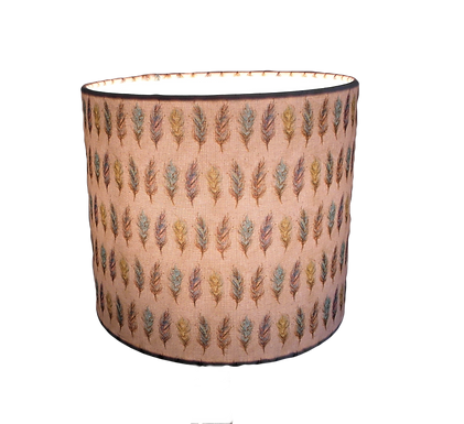 Cheyenne Coloured Feathers Design Handmade Lampshade