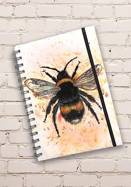 Dollyhotdogs Bee Hard back Notebook