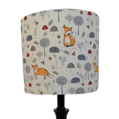 John Louden Fox Fabric Drum or Empire Lampshade