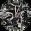 Thumbnail: Handmade Gothic Lady and Raven Fabric Wall Clock