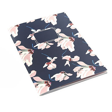 Navy Floral A5 Exercise Book