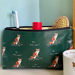 'For Fox Sake!' Wash Bag