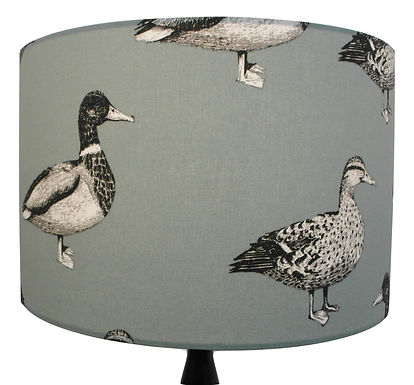 Large Mallard Ducks Green Handmade Lampshade, Drum or Empire Shapes