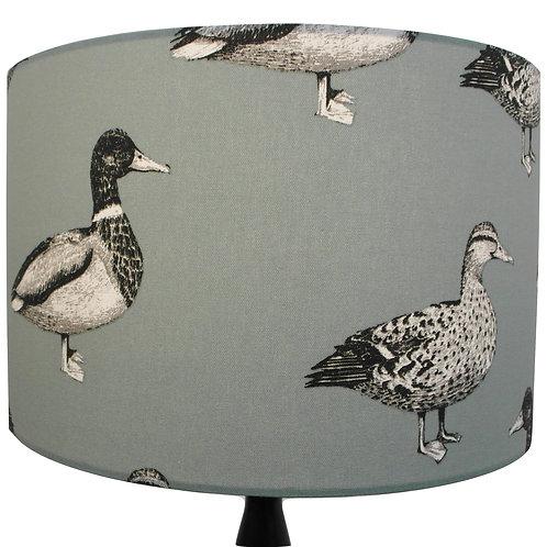 Large Mallard Ducks Green Handmade Lampshade, Drum or Empire Shapes