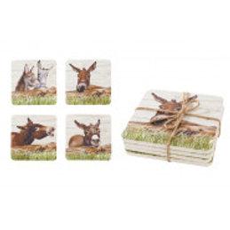 Donkey Coasters, Set of 4