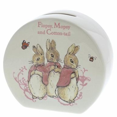 Beatrix Potter Flopsy, Mopsy and Cotton Tail Money Bank A26696