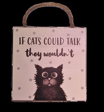 Cat Funny Hanging Plaque