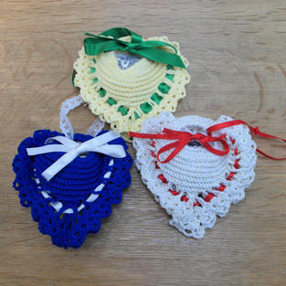 Tattered Lace Lavender Hearts