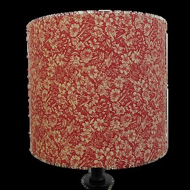 Red Cotton Flowers Design Handmade Drum Shade