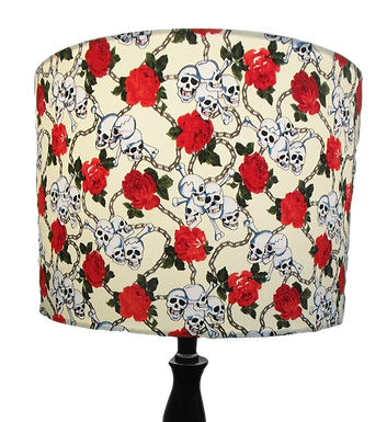 Clearance Skull and Roses 'Eternal Chains' Gothic Handmade Lampshade