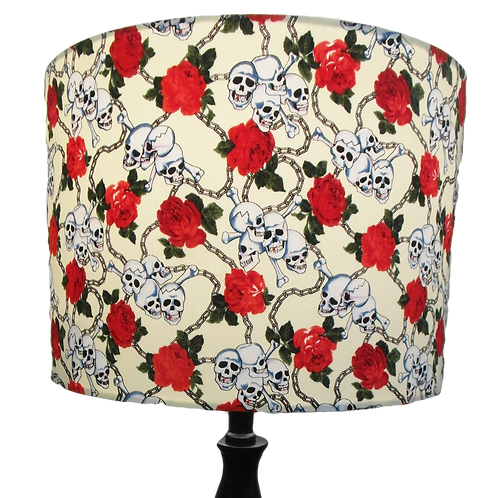 Skull and Roses 'Eternal Chains' Gothic Handmade Lampshade