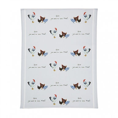 Hens, 'Girls just want to have fun', Tea Towel