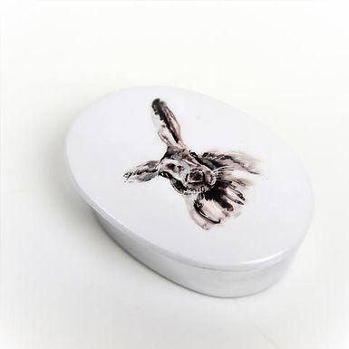 Hare Recycled Aluminium Trinket Box