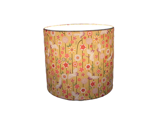 Japanese Cranes and Flowers Handmade Lamps