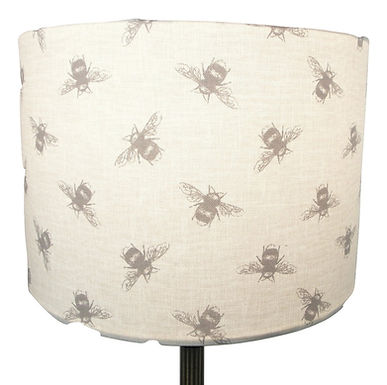 Busy Bumblebees fabric Handmade Lampshade, Drum or Empire Shapes