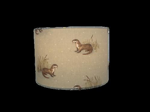 Otters, Handmade Lampshade