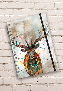 Dollyhotdogs Stag Hard back Notebook