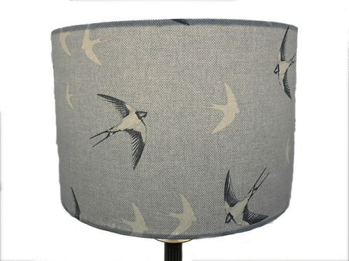 Swallows, Handmade Lampshade, Drum or Empire Shap