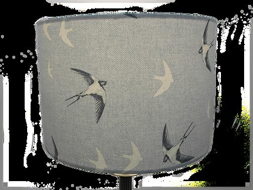 Swallows, Handmade Lampshade, Drum or Empire Shap