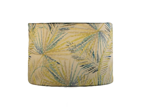 Palm Leaf Tropical Design Handmade Lampshade, Drum or Empire Shapes