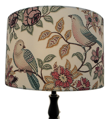 Orchard Birds Handmade Lampshade, Drum or Empire Shapes