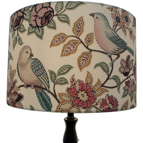 Heritage Orchard Birds Handmade Lampshade, Drum or Empire Shapes
