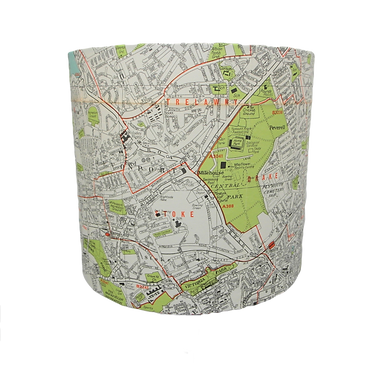Plymouth Map Lampshade, 20cm