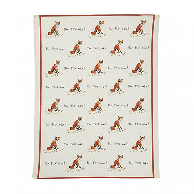 Fox 'For fox sake' Tea Towel