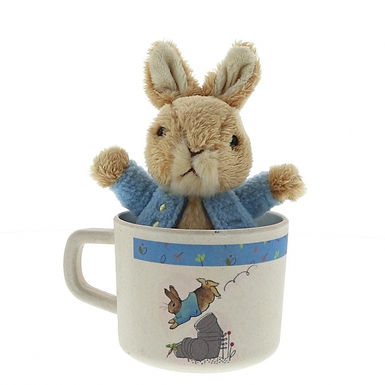 Peter Rabbit Organic Bamboo Childrens Cup and Soft Toy Gift Set