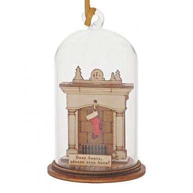 Santa Please Stop Here, Kloche Hanging Ornament
