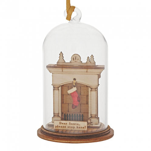 Santa Please Stop Here, Kloche Hanging Ornament