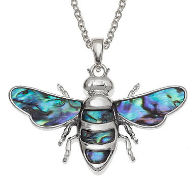 Inlaid Paua Shell Bee Necklace