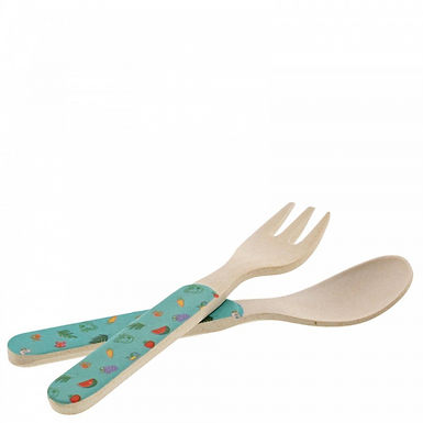 Peppa Pig Bamboo Fork and Spoon Cutlery Set